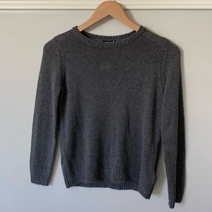 NWT Grey Knit Sweater with 3/4 Length Sleeves